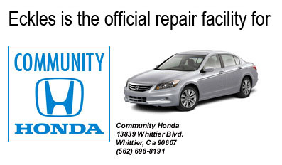 Eckle's is the official Collision Center for Community Honda